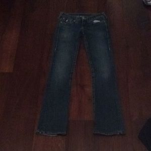 True religion boot cut blue jeans
